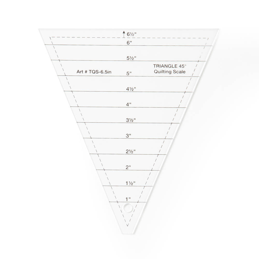 45° Quilting Scale Triangle Template